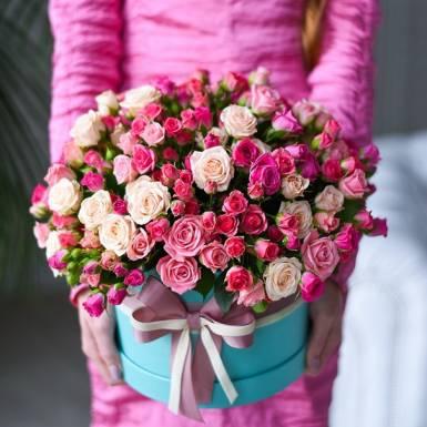 цветы в коробке r17